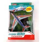 Modellino aereoplano cm 15x15 gioco bambino 2 colori con piedistallo