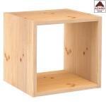 Mensola cubo da parete moderna in legno naturale sospesa cubi design scaffale