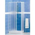 Box doccia cabina pvc angolare scorrevole reversibile 68-78 h 185 profilo bianco