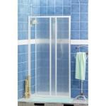 Porta cabina pvc scorrevole x nicchia doccia 100/106 profilo bianco