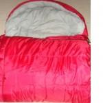 Sacco a pelo cm.190x60 campeggio camping estate colore rosso estate inverno