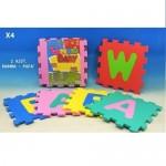 Tappeto puzzle per bambini set 5 pz gioco tappetino lettere alfabeto cm 32x32