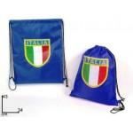 Sacca zaino chiusura coulisse Italia azzurra logo nazionale 43x34 impermeabile