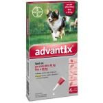 Advantix spot on per cani oltre 10 kg fino a 25 kg contro parassiti zecche