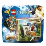 Costruzioni lego chima la cascata di chi carte mattoncini gioco bambino 3+