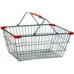 Portaoggetti cestino spesa per supermercato mini cromato arredo casa 19x13x8 cm
