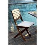 PZ 2 - sedia pieghevole da giardino in legno balau 40x59x91h cm