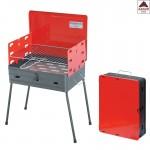 Barbecue carbonella portatile griglia in acciaio fornacella pieghevole valiga