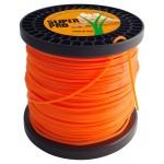 Filo decespugliatore nylon professionale sezione quadrata 3,0 mm bobina da 180m