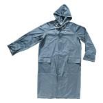 Cappotto antistrappo impermeabile in nylon niagara blu tg.xl