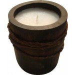 Candela etnica porta tealight in bamboo portacandela cm.12x22 Pz 2