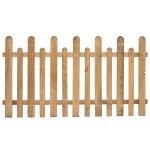 Steccato staccionata recinzione alto in legno di pino da esterno 175x100h