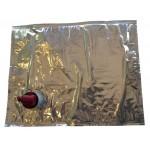 PZ 15 - sacca vino liquidi bag in box in alluminio con rubinetto lt 3