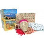 Tombola della smorfia napoletana set pz 48 cartelle numeri in legno panariello