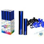 Cannone spara coriandoli nero azzurro tubo party cm.30 per festa