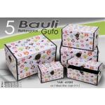 Baule salva spazio rettangolare rigido set 5 pezzi con gufi
