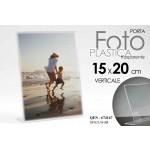 Cornice portafoto in plastica trasparente verticale 15x20 cm