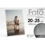 Cornice portafoto in plastica trasparente verticale 20x25 cm