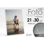 Cornice portafoto in plastica trasparente verticale 21x30 cm