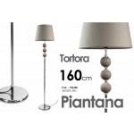 Lampada piantana base in metallo tortora design arredo casa cm 160 h