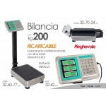Bilancia 200 kg lcd display professionale portatile digitale industriale bascula