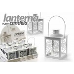 Lanterna porta candela lumini tea light 10x20(14) cm albero della vita