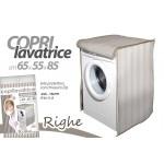 Copri lavatrice 65x55x85 chiusura a zip cerniera a righe carica frontale tortora