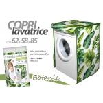 Telo copri lavatrice frontale 62x58x85 cm con zip fantasia botanic