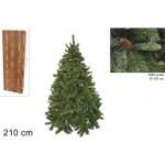 Albero di natale pino russo cm.210 1290 rami