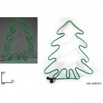 Decorazione natale albero tubo luminoso 90x76