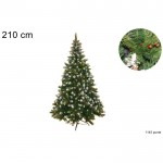 Albero di natale pino rustico h. 210 cm con addobbi