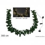 Ghirlanda nataliazia luminosa 120 led luce calda 3.5 mt 200 punte festone