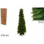 Albero di natale slim abete verde 210 cm 536 rami salvaspazio