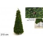 Albero di natale richiudibile c/pigne 210cm 1091 rami