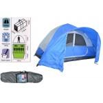 Tenda campeggio 8 posti 275/285+400 x195 cm con sacca per trasporto