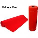Rotolo tappeto passatoia natale colore rosso 100 cm x 10 mt red