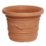 Vaso plastica festonato d. cm.70x55h prestige