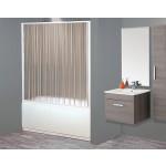 Box parete vasca a soffietto doccia 1 lato cm 170x150-150 150h