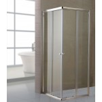 Box doccia cabina angolare cristallo trasparente mm 6 cm 80x80 h185 scorrevole