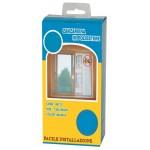 Zanzariera poliestere indeformabile adesiva a strappo finestra 150x180 antracite