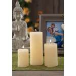 Cero candela grande bianco avorio d. 6x9h cerimonie feste party relax