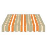Tenda da sole struttura a bracci retrattilile in alluminio arancione 295x250h cm