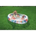 Piscinaovale gonfiabile per bambini multicolor cm.152x234x51h capacità 536 litri