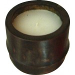 2 pz  portacandele porta tealight in bamboo candela etnica cm.6x7 rotonda