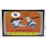 Riproduzione targa storica pubblicita' vespa bl paulig metallo collezionismo