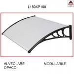 Pensilina policarbonato alveolare trasparente 150x100 tettoia modulabile esterno