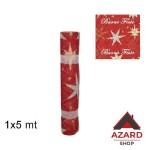 Passatoia tappeto natale rosso corsia nuziale natalizio 1x5m decorazione stelle