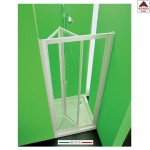 Porta per box doccia a nicchia libro soffietto in pvc su misura 76-83 cm