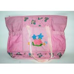 Borsa fasciatoio 40x30 cm rosa foderata con sacche neonati