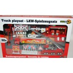 Pompieri vigili del fuoco set gioco 32 pz scala 1:87 modellino camion autoscala